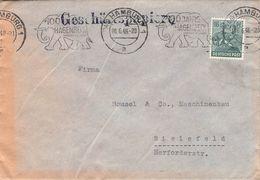ALLIIERTE BESETZUNG - BRIEF 1948 HAMBURG - BIELEFELD  //T22 - Zone Anglo-Américaine