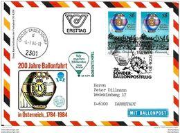 """82 - 62 - Carte D'Autriche Vol Ballon 1982 """"200 Jahre Ballonfahrt"""" - Montgolfier"""