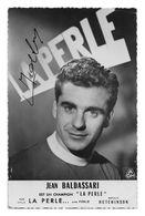 CARTE CYCLISME JEAN BALDASSARI SIGNEE TEAM LA PERLE 1954 - Cyclisme