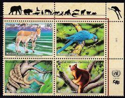 UNO-Genf, 1999, 369/72, MNH **, Gefährdete Arten (VII): Fauna. - Nuevos