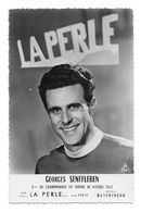CARTE CYCLISME GEORGES SENFFLEBEN TEAM LA PERLE 1954 - Cyclisme