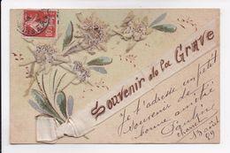 CP 05 LA GRAVE Souvenir Ajoutis Edelweiss Et Ruban En Soie - Autres Communes