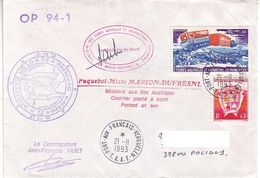 Marion Dufresne FSAT TAAF. 21.11.93 Kerguelen T. Castor - Brieven En Documenten
