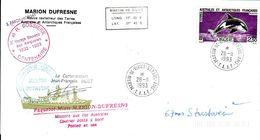 Marion Dufresne FSAT TAAF. 28.11.93 SPA Orque Pli Illustre Centenaire Bossiere - Brieven En Documenten