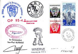 Marion Dufresne FSAT TAAF. 31.07.93 Kerguelen Médecin - Brieven En Documenten