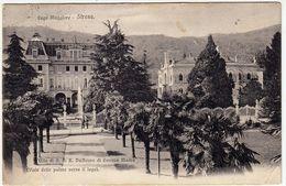 LAGO MAGGIORE - STRESA - VILLE DI S.A.R. DUCHESSA DI GENOVA MADRE - VIALE DELLE PALME VERSO IL LAGO - 1906 - Vedi Retro - Verbania