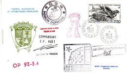 Marion Dufresne FSAT TAAF.  29.04.93 Crozet - Brieven En Documenten