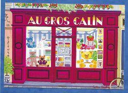 Celia SAUBRY Au Gros Calin, Devanture De Boutique Specialisee En Ours En Peluche Naifs Primitifs Rue Du Dragon - Peintures & Tableaux