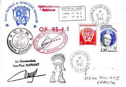 Marion Dufresne FSAT TAAF. 10.07.93 (1) SPA Op 93-4.1 Cachet Et Signature Medecin - Brieven En Documenten