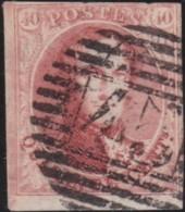 Belgie      .    OBP     .    8  (2 Scans)      .         O     .     Gebruikt   .   /   .   Oblitéré - 1851-1857 Medallones (6/8)