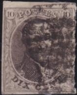 Belgie      .    OBP     .   10A    .         O     .     Gebruikt   .   /   .   Oblitéré - 1858-1862 Medallions (9/12)
