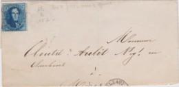Belgie      .    OBP     .   11A Op Brief   ( 2 Scans)     .         O     .     Gebruikt   .   /   .   Oblitéré - 1858-1862 Medallions (9/12)