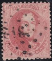 Belgie      .    OBP     .   16      .         O     .     Gebruikt   .   /   .   Oblitéré - 1863-1864 Medallones (13/16)