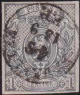 Belgie      .    OBP     .    22  (2 Scans)      .   O      .   Gebruikt   .   /    .    Oblitéré - 1866-1867 Petit Lion