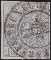 Belgie      .    OBP     .    22  (2 Scans)      .   O      .   Gebruikt   .   /    .    Oblitéré - 1866-1867 Coat Of Arms
