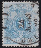 Belgie      .    OBP     .    24a   (2 Scans)      .   O      .   Gebruikt   .   /    .    Oblitéré - 1866-1867 Petit Lion (Kleiner Löwe)