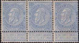 Belgie      .    OBP     .  60  3x  1 Zegel: *  (2 Scans)   .   **     .   Postfris     .   /    .   Neuf SANS Charniere - 1893-1900 Thin Beard