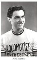CARTE CYCLISME ADRI VOORTING TEAM LOCOMOTIEF 1955 - Cyclisme