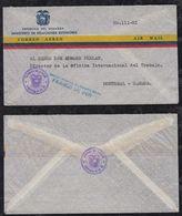 Ecuador Ca 1960 Official Aimail Cover To MONTRAL Canada FRANCO DE PORTO Postmark - Ecuador