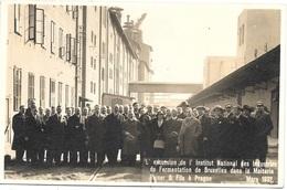 Prague NA1: L'excursion De L'Institut National Des Industries De Fermentation De Bruxelles Dans La Malterie Reiser... - Czech Republic