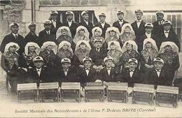 - Corrèze -ref-A235- Brive La Gaillarde - Société Musicale Acordéonistes Usine F. Dedenis - Usines - Accordeon -musique - Brive La Gaillarde