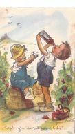 """Germaine Bouret. Enfants Buvant Du Vin Dans Les Vignes. """"Hep !! Y'a Du Rab Pour Bibi"""" - Bouret, Germaine"""