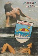 Femme Aux Seins Nus à La Baignade En Normandie ! - Pin-Ups
