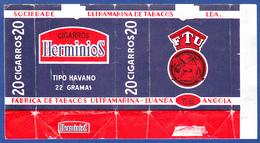 Angola, Portugal 1960 To 1970, Packet Of Cigarrettes - Herminios / Sociedade Ultramarina De Tabacos, Luanda Angola - Etuis à Cigarettes Vides