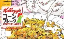 Telecarte KELLOG'S Phonecard Japan  (11) Corn Flakes - Alimentación