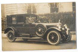 AUTOMOBILE ANCIENNE Carte Photo Automobile Mascotte Victoire Ailée Et Chauffeur Gros Plan - Passenger Cars