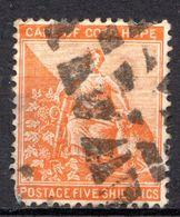 CAP DE BONNE ESPERANCE (Colonie Britannique) -1871-82 - N° 20E - 5 S. Jaune Foncé - Afrique Du Sud (...-1961)