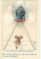 Illustrateur   Mich      Le Lievre Et Le Train - Mich