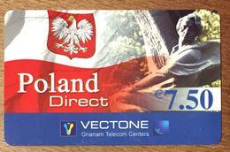 POLAND DIRECT VECTONE 7,5 EURO EXP LE 25/12/2004 CARTE PRÉPAYÉE PREPAID CHINE ASIE - France