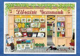 Celia SAUBRY Librairie Gourmande, Devanture De Boutique Spécialisée Dans La Vente De Livres Culinaires  Naifs Primitifs - Peintures & Tableaux