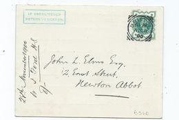 1/2d  Sg213  Squared Circle Jubilee Halfpenny Very Nice Small Bristol Cancel On Postcard Clear Strike - Storia Postale