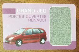 RENAULT SCÉNIC GRAND JEU PORTES OUVERTES RENAULT POUR COLLECTIONNEUR - Automobilismo - F1