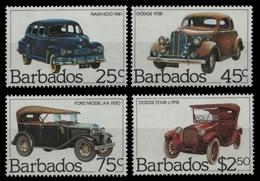Barbados 1983 - Mi-Nr. 587-590 ** - MNH - Autos / Cars - Barbados (1966-...)