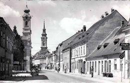 STOCKERAU Strassenansicht Geschäfte Fotokarte - Stockerau