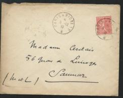 """Yvert N° 199 Oblitéré Ambulant Sur Lsc En  Decembre 1930 """"  Paris à Niort  - 1 ° -  B  """"  - Tab15308 - Poststempel (Briefe)"""