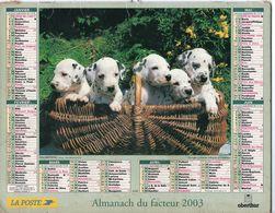 ALMANACH DU FACTEUR - 2003 - DÉPARTEMENT 80 SOMME - EDITIONS OBERTHUR - Calendars