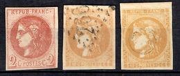 France Bordeaux YT N° 40B Neuf (*) Et N° 43 Oblitéré (2). B/TB. A Saisir! - 1870 Emission De Bordeaux