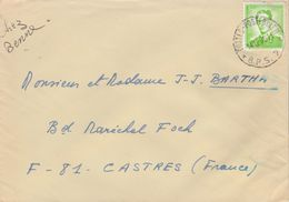 Belgique Lettre Cachet Postes Posterijen BPS 7 14/12/1970 Pour Castres Tarn France - Marcophilie