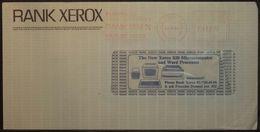 Belgium - Advertising Meter Franking Cover 1985 Zaventem Rank Xerox Computer C2137 - 1980-99