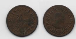+ FRANCE    + DOUBLE TOURNOIS 1609 V  + TRES BEAU + - 987-1789 Monnaies Royales