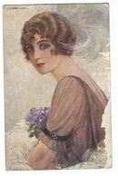 CL286 - ILLUSTRATORI CORBELLA DONNA BELLE EPOQUE 1920 CIRCA WOMAN GIRL - Corbella, T.