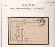 Guerre 1914/18    Correspondance Avec Les Prisonniers De Guerre   Voir Scan - Guerre 14-18