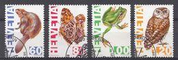 Suisse 1995  Mi.Nr: 1544 1547 Bedrohte Einheimische Tiere  Oblitèré / Used / Gebruikt - Used Stamps