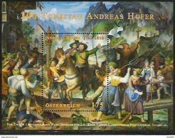 2010  Austria Östrerreich    Mi. Bl 58 **MNH   200. Todestag Von Andreas Hofer - Blocks & Kleinbögen