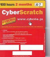 JORDAN - Cyberia Internet Prepaid Card JD 7(matt Surface, 100 Hours-2 Months), Tirage %2000, Sample - Jordanien