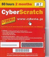 JORDAN - Cyberia Internet Prepaid Card JD 7(glossy Surface, 80 Hours-2 Months), Sample - Jordania